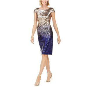Connected Size 12 Allover Sequined Ombre Dress NEW